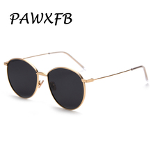 PAWXFB BRAND DESIGN Fashion 2019 Ladies Polarized Sunglasses Women Metal Frame Round Sunglasses Gradient Lend Shades UV400 цена и фото