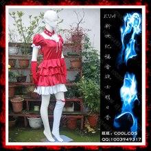 Anime Neon Genesis Evangelion Asuka Langley Soryu Cosplay Cos de Halloween Vestidos de Fiesta