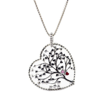 Authentic 925 Sterling Silver Tree Of Love Lady Necklace Charms Or Elegant Women Jewelry Full Of