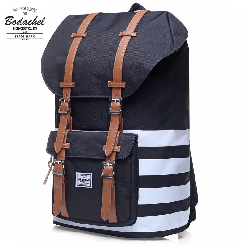 24l Large Bodachel Vintage Backpack Black Brand Men Women America Classic Schel Mochila Corujas Travel Backpack Military Bag