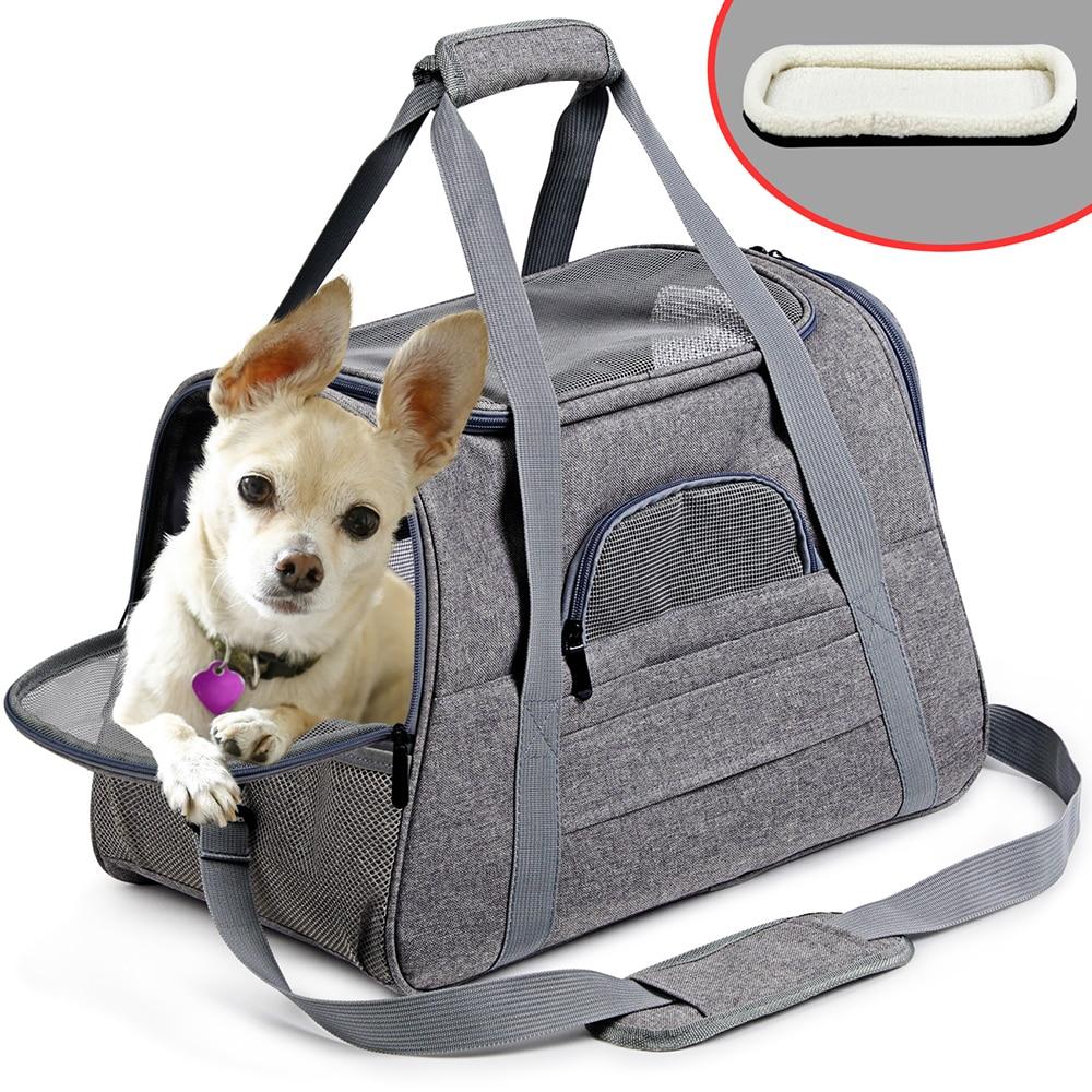 Dog Carrier Portable Pet Backpack Messenger Cat Carrier Outgoing Small Dog Travel Bag Soft Side Breathable