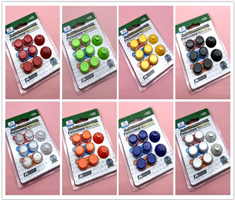 8Pcs/Lot Removable Silicone Analog Thumb Stick Button Grip Caps For Sony PlayStation4/PS4 Slim/Xbox One Gamepad Controller Cover