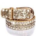 Feimu cinto paillette cinta larga Das Mulheres de diamante rebite decoração moda cinto cinto