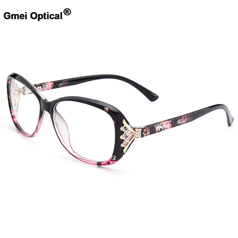 New Arrival Gmei Optical Colorful Women Full Rim Optical Eyeglasses Frames Urltra-Light TR90 Plastic Female Myopia Eyewear M1496
