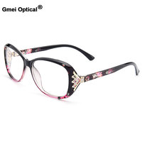 New Arrival Gmei Optical Colorful Women Full Rim Optical Eyeglasses Frames Urltra Light TR90 Plastic Female