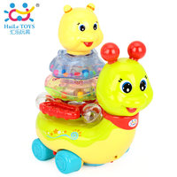 Children's Educativos Toys Action Brinquedos Bebe Chocalho Baby Rattles with music/light Free Shipping 576 Flashing Snail Toys
