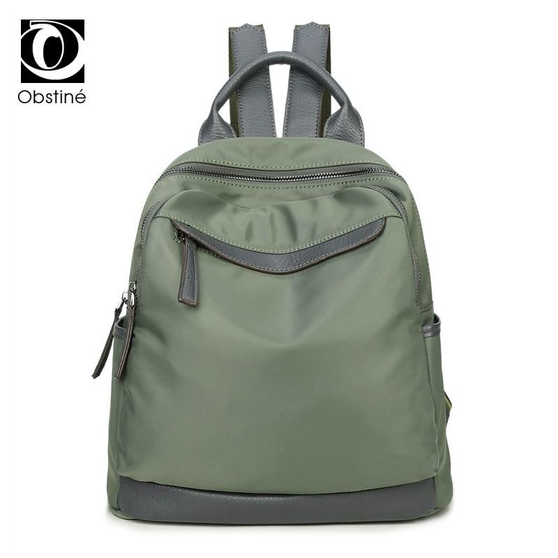 Obstine Designer Women's Backpacks Waterproof Oxford Back Pack Female School Bags For Teenage Girls Casual Travel Shoulder Bag