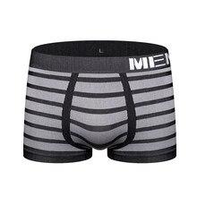 Short à rayures Sexy, sous-vêtement pour hommes, slip sans couture, Boxer, simple, M0041, Boxer sous-vêtements pour homme