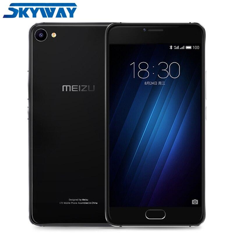 """Original MEIZU U10 4G LTE Global Firmware 2.5D Glass Smart Phone Octa Core 5.0"""" HD 2GB RAM 16GB ROM 13.0MP Camera Cell phone"""