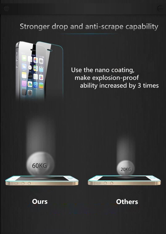 HTB1Ep0xKXXXXXbFXFXXq6xXFXXXW - 9H tempered glass For iphone XR XS X 8 4s 5s 5c SE 6 6s plus 7 plus screen protector protective guard film case cover+clean kits