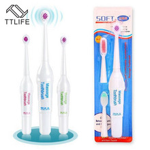 TTLIFE 1 Set Electric Toothbrush With 3 Brush Heads Battery Operated Oral Hygiene No Rechargeable Teeth For Children New