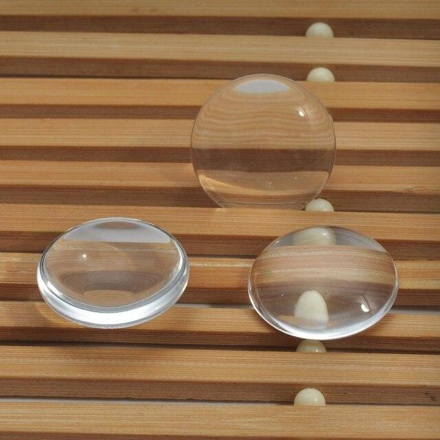 50 piezas 30mm 35mm 40mm transparente plana clara cúpula de cristal cabujón insertos bandeja colgantes cubierta de manualidades DIY