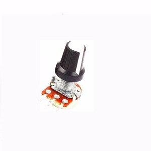 5Pcs Linear Rotary Taper Potentiometer Pot 10K OHM Linear Mono Stereo Pot Rotary 15mm Resistor Potentiometer & Knobs