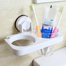 Dehub New Qualified Suction Hair Dryer Rack  Bathroom Wall Holder Shelf Storage For Accessories