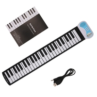 49 Keys Silicone Flexible Hand Roll Up Piano Soft Electronic Keyboard For Kids 35 11W