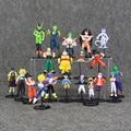 20Pcs/Lot  Two Style Dragon Ball Mini Q Version Action Figure Son GoKu Bulma Oolong Yamcha Tenshinhan Model For Gift Collectible