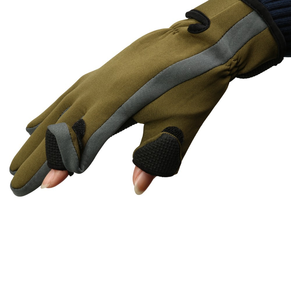 2017 new neoprene fishing gloves 2 fingers exposable gants for Neoprene fishing gloves