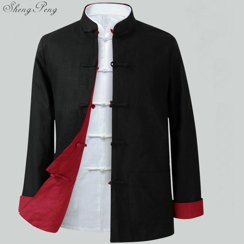 US $55 46 41% OFF|Oriental mens clothing kung fu uniform chinese  traditional men clothing mens chinese jackets online chinese store V778-in  Tops from
