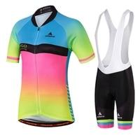 Team Women Bike Bicycle Comfortable Jersey Ropa Ciclismo Bike Clothing Pad Bib Short Suits Cycling Wear S-4XL
