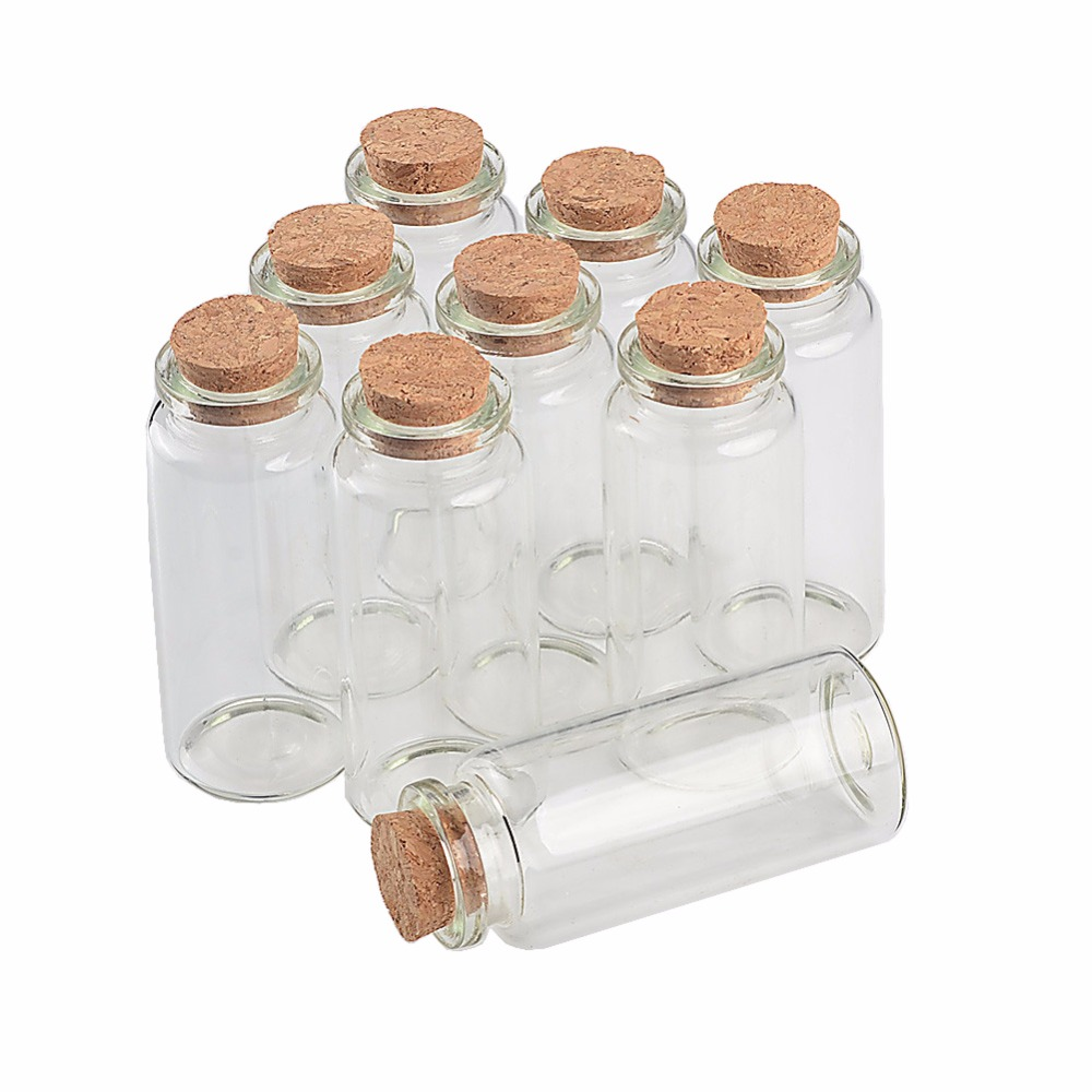 30ml Wish Bottles Tiny Small Empty Clear Cork Glass Bottles Vials For Wedding Holiday Decoration Christmas Gift