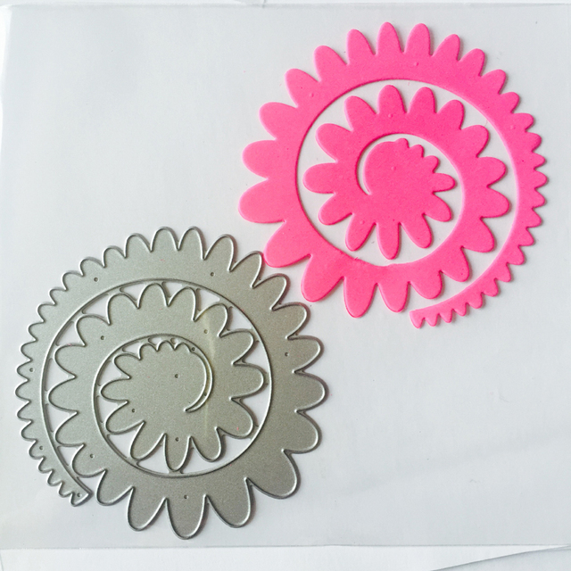 Spiral flower thin metal die scrapbooking die sm990003