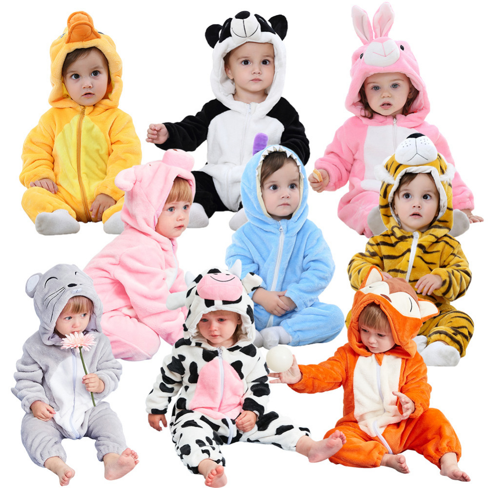 Brand Baby   rompers   Cute Animal girls clothes newborn baby Cartoon pajamas warm winter Pajamas roupas de bebe recem nascido