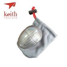 Keith Pure Titanium Creative Egg Shape Tea Strainer Tea Coffee Scented Filter Hold Fitting Built In Teacup Mi3920