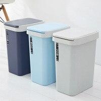 Plastic Rectangular Waste Bins Kitchen Living Room Bathroom Trash Can Creative Household Paper Basket