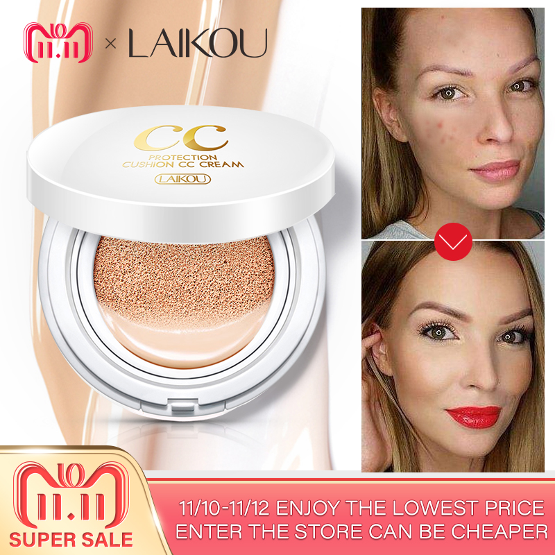 Brand LAIKOU Air Cushion Isolation CC Cream Korean Cosmetic Moisturizer Make Up Oil Control Hyaluronic Acid Whitening BB Makeup bp studio болеро