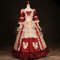 European Elegant Ruffles18th Century Renaissance Gothic Victorian Dresses Halloween Victorian Ball Gowns/Party Dress Costume