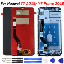 For Huawei Y7 2019 Original LCD Display / 6.3 inch For Huawei Y7 Prime 2019 Screen / Y7 Pro 2019 LCD Display Touch Screen repair цена