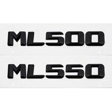 Car Rear Trunk Number Letters Badge Emblem Decal For Mercedes Benz ML Class ML500 ML550 W163 W164 W166 W204 W203 W212 W205 W211 for mercedes benz gle m class w163 w164 w166 car interior ambient light car inside cool strip light optic fiber band