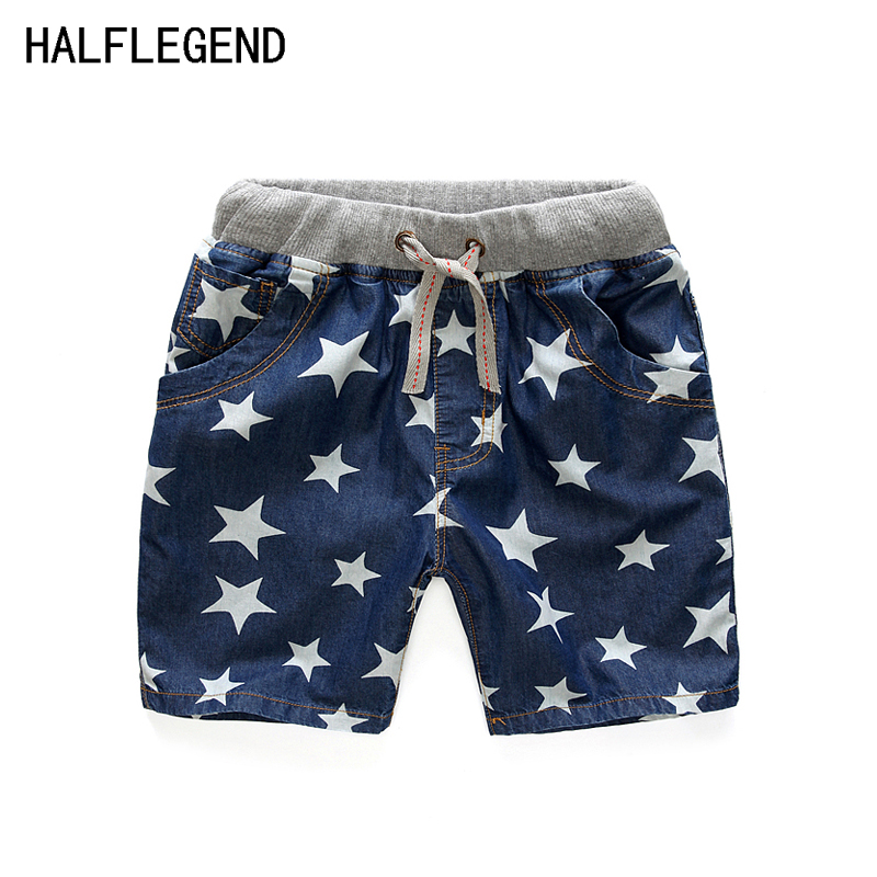 2017Summer Style Shorts for boy 7-8-9yrs Boys Shorts Star Kids Baby Boys Jeans Shorts Boys clothes Casual Children's Clothing 1