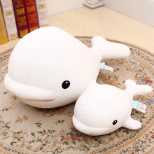 Lovely white whale pillow,sea animal cushion,home DIY party decorations children kids girls boys favor soft toys birthday gift