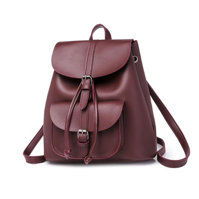 Мода женский оптовые кожаные рюкзаки для девочек подростков небольшие школьные