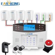 Sistema de alarme de segurança residencial, com fio e sem fio gsm residencial, 433mhz, espanhol, francês, inglês, russo, italiano