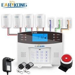 Wired & Wireless GSM Hause Einbrecher Sicherheit Alarm System 433MHz Spanisch Französisch Englisch Russisch Italienisch Sprache Intercom