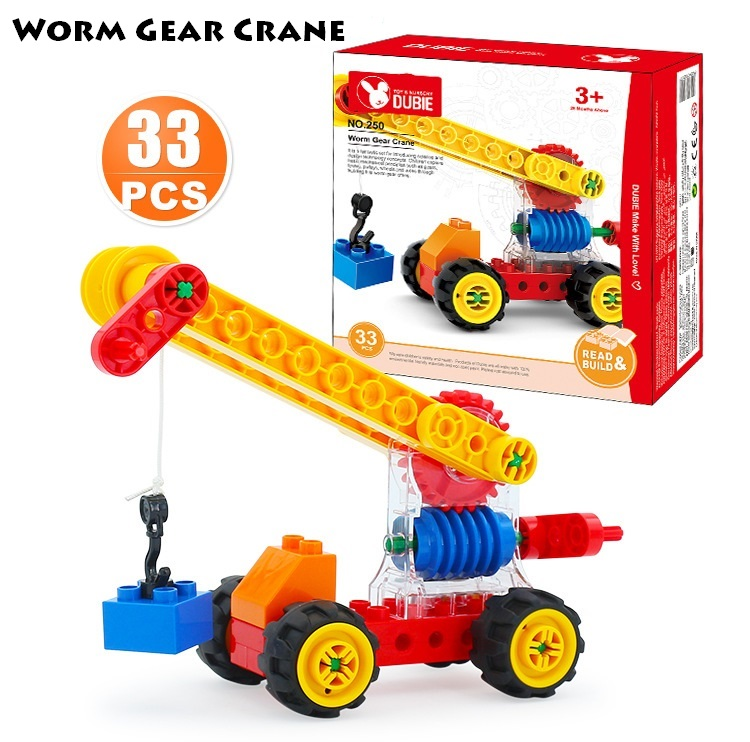 Duplo, Gear, Engineering, Worm, Children, Crane