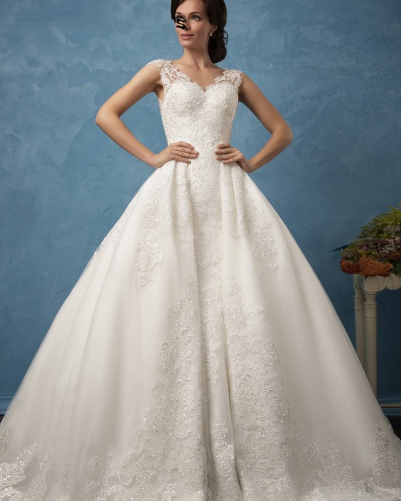 Removable Wedding Gown Dress: Detachable Skirt Lace Wedding Dresses Removable Skirt