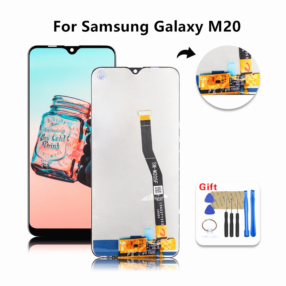 For Samsung Galaxy M20 LCD SM-M205 M205F M205G/DS Display With Touch Screen Digitizer Assembly +Tools