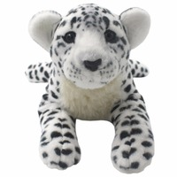JESONN Realistic Stuffed Animals White Cheetah Plush Toys Leopard Tiger Lion Panther Pillows for Children's Birthday Gifts