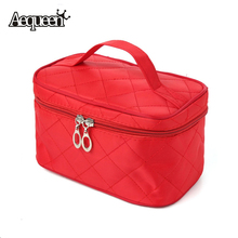 Fashion Lady Multi Functional Cosmetic Bag Organizer Women Make Up Bags Cosmetic Case Insert With Pockets Toiletry Pouch