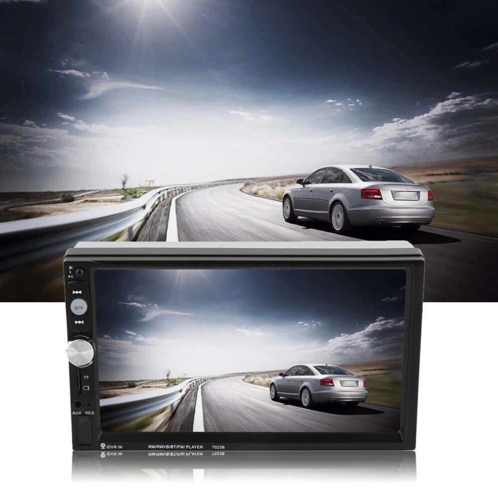 Car DVD Player 7023B Auto Car 2 Din 7 Inch Touch Scrren Radio Bluetooth Player Rear View Camera Input Automobiles Top Sale
