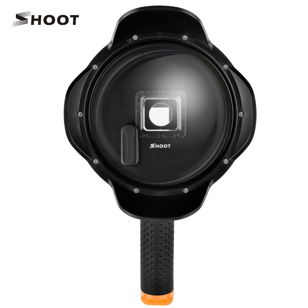 SHOOT  Portable 6 inch Waterproof  Diving Dome Port  For GoPro Hero 3+/4 with Lotus Hood GoPro Hero 4 Accessories shoot underwater camera dome port lens hood extra lcd storage gopro hero 3 4