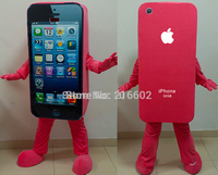 cosplay costumes red Mascot Costume Cell Phone Apple iPhone 5C Adult Size EMS