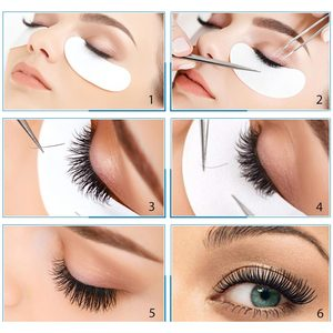 Image 3 - 150 Pairs Hydrogel Eye Patches Papier Patches Voor Wimper Extensions Onder Eye Pads Wegwerp Wimpers Make Up Cosmetica Gereedschap