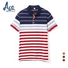ACEMIRIZ 2017 Männer Hohe Qualität Casual Männer Poloshirt Striped Polo Sommer Kurzen Ärmeln Camisa Polo Shirts HT-1738