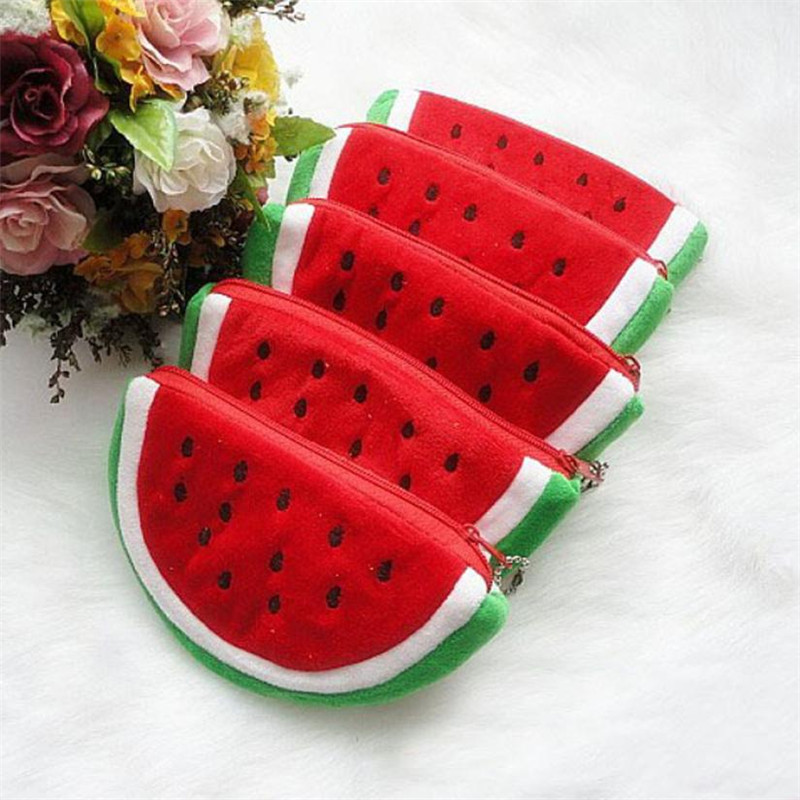 цена на 15cm*9cm Women Clutch Change Coin Purse New Women Purse Mini Ladies Creative Fruit Lovely Cartoon Watermelon Coin Bag Wallet