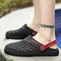 Summer Men Sandals Breathable Beach Shoes Casual Male Slippers Light Flats Sandals Garden Mules Clogs 2017 Hole Shoes