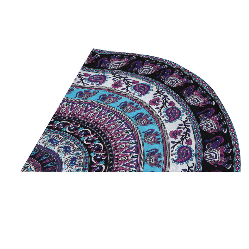 E5 Round Beach Pool Home Shower Towel Blanket Table Cloth Yoga Mat